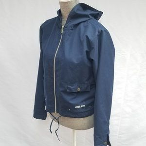 ADIDAS Hooded Track Jacket Blue & White